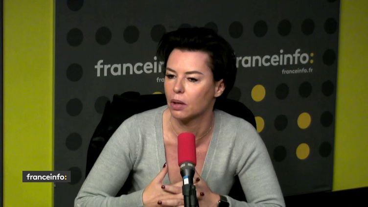 Laurence Saillet, porte-parole du parti Les Républicains. (FRANCEINFO / RADIOFRANCE)