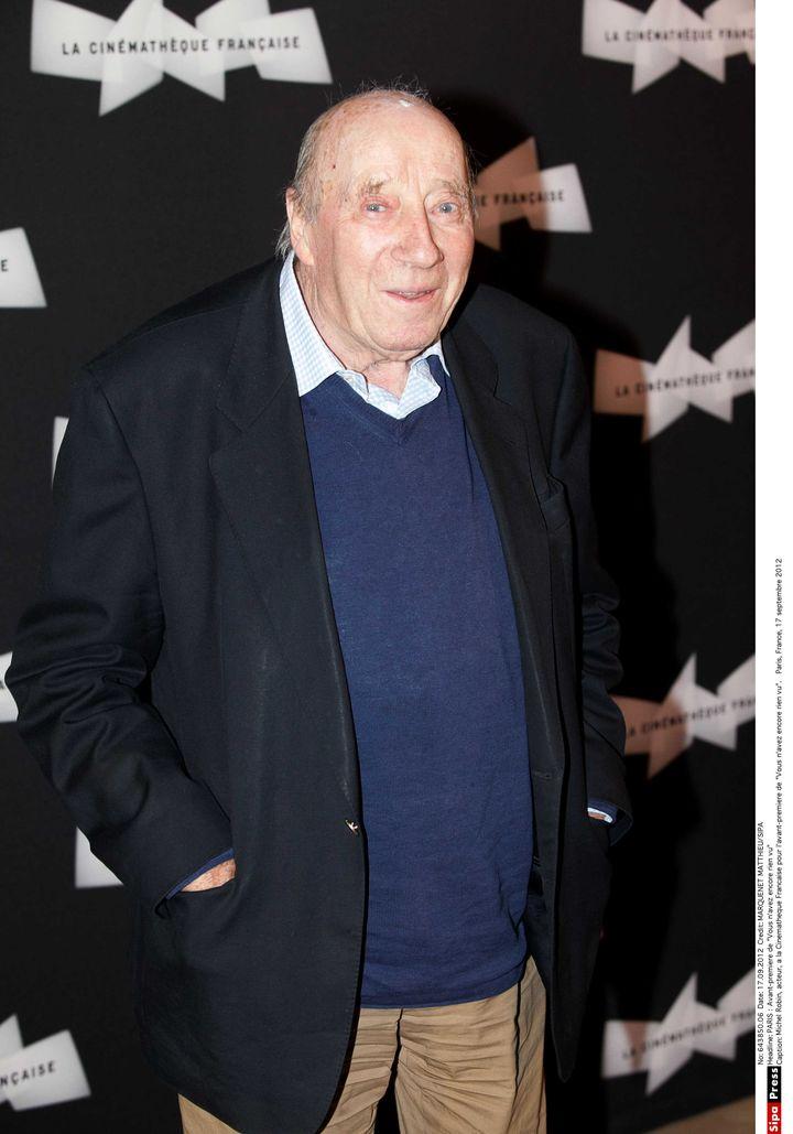 """Michel Robin en 2012 pour l'avant-première de """"Vous n'avez encore rien vu"""" à la Cinémathèque Française. (MARQUENET MATTHIEU/SIPA)"""