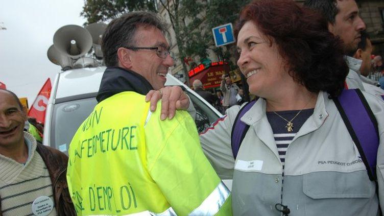 Gigi, ancienne ouvrière PSA à l'usine d'Aulnay-sous-Bois (Seine-Saint-Denis). (FRANCINE RAYMOND / FRANCETV INFO)