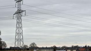 Image d'illustration d'une ligne électrique. (MYCHELE DANIAU / AFP)
