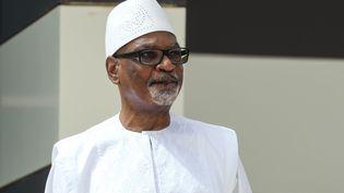 Le président Ibrahim Boubacar Keïta, le 30 juin 2020 au sommet du G5 Sahel à Nouakchott (Mauritanie). (LUDOVIC MARIN / AFP)