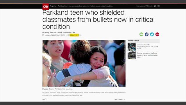 États-Unis : touché par cinq balles à Parkland, Anthony Borges sort de l'hôpital