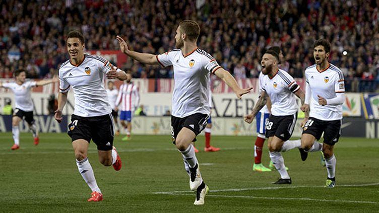 Valence a arraché le nul en deuxième mi-temps face à l'Atletico. (DANI POZO / AFP)