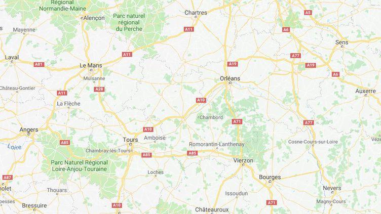 Capture d'écran pointant Orléans, où un trentenaire a été condamné, le 8 décembre 2017, à quinze ans de prison pour le viol d'une femme de 89 ans, (GOOGLEMAPS)