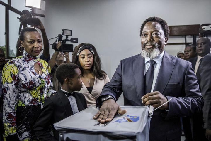 Joseph Kabila a succédé à son père, assassiné en janvier 2001.Il a exercé deux mandats de président et s'est retiré en 2019. (LUIS TATO / AFP)
