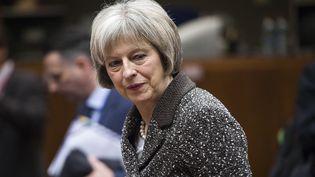Theresa May, le 4 décembre 2015, à Bruxelles (Belgique). (WIKTOR DABKOWSKI / AFP)