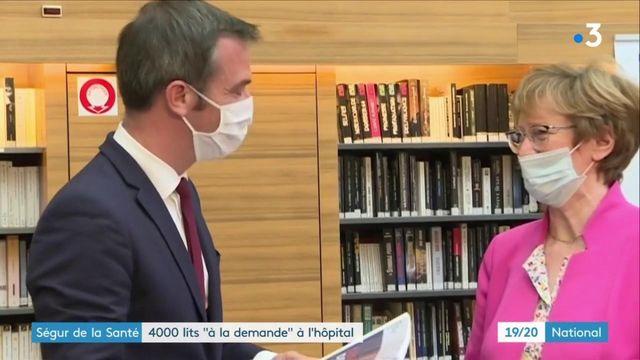 """Ségur de la Santé : Olivier Véran annonce la création de 4 000 lits """"à la   demande"""" à l'hôpital"""