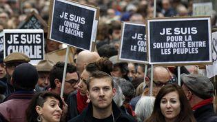 Au moins 120 000 personnes ont défilé à Toulouse, le 10 janvier 2015. (  MAXPPP)