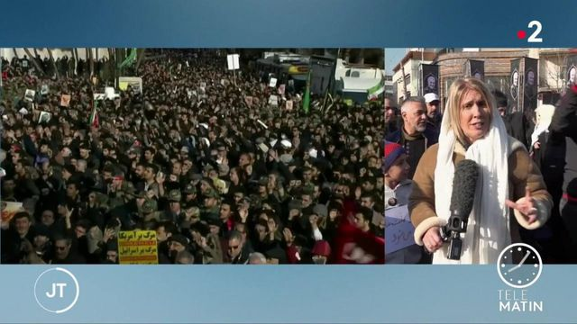 Iran : des milliers de personnes rendent hommage à Souleimani à Téhéran