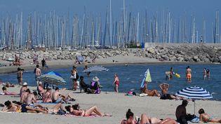 La plage dePalavas-les-Flots (Hérault) le 10 juin 2021. (PASCAL GUYOT / AFP)