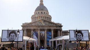 Le Panthéon, où Simone Veil et son marie Antoine Veilentrent dimanche 1er juillet 2018. (LUDOVIC MARIN / AFP)