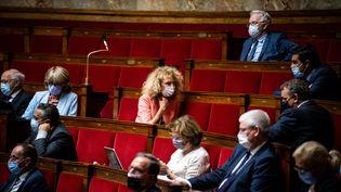 La députée Martine Wonner à l'Assemblée nationale à Paris, le 29 juin 2021. (XOSE BOUZAS / HANS LUCAS / AFP)
