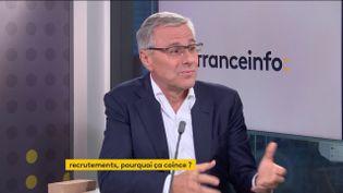 Alain Dehaze, PDG du groupe Adecco, le 21 septembre 2021. (FRANCEINFO/ RADIOFRANCE)