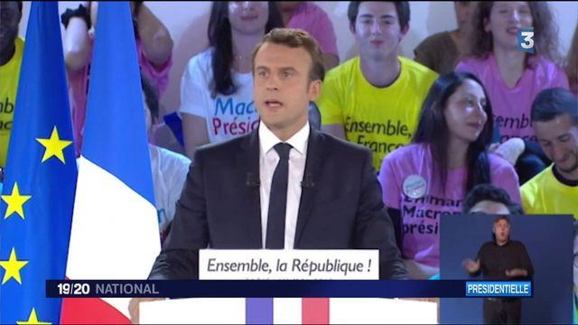 Meeting à La Villette : Emmanuel Macron offensif contre le FN et rassembleur