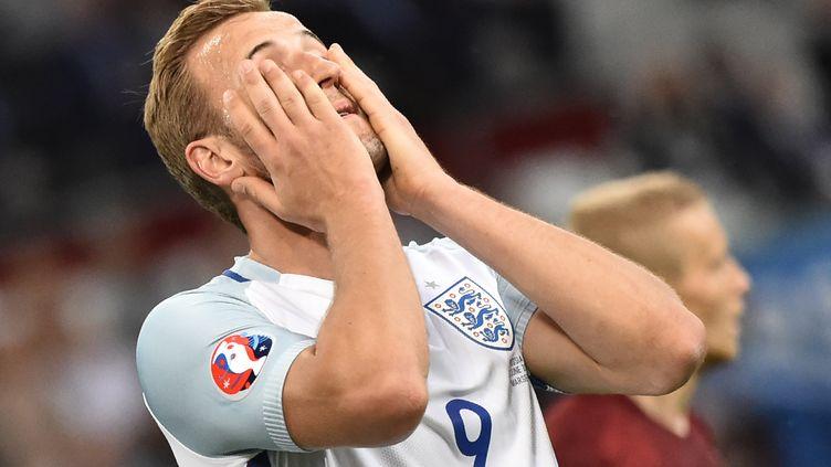 Harry Kane lors du match Angleterre-Russie, le 11 juin 2015 à Marseille. (BERTRAND LANGLOIS / AFP)