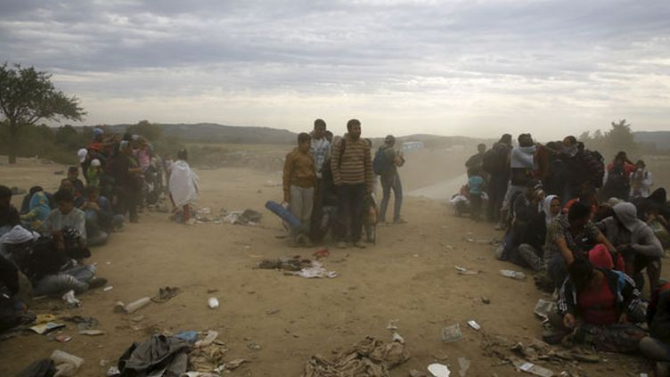 (Des migrants dans le village grec d'Idomeni, près de la frontière macédonienne, en septembre dernier. © REUTERS/Yannis Behrakis)