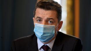 Gaël Perdriau, maire de Saint-Étienne, le 9 octobre 2020. (REMY PERRIN / MAXPPP)
