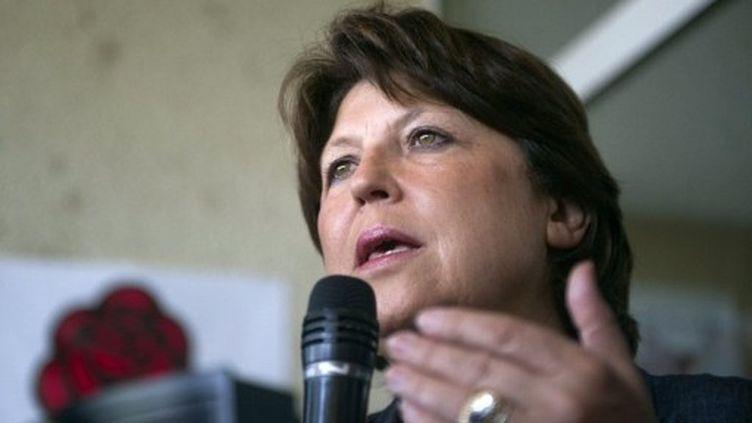 Marine Aubry fait un discours aux militants du Gard, le 19 juillet 2011. (AFP - Bertrand Langlois)