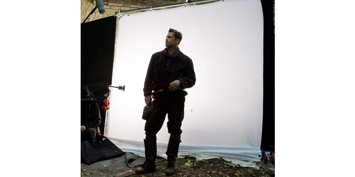 "Brad Pitt, tournage de ""Inglourious Basterds"", Quentin Tarantino  (Francois Duhamel)"