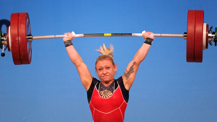 Boyanka Kostova a amélioré 2 records du monde (VANO SHLAMOV / AFP)