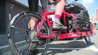 Un service de livraison à vélo éthique et écolo : c'est ce que propose Beefast. (France 3 Picardie)