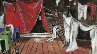 Détail d'un croquis de décor (non réalisé) pour le ballet Les Forains d'Henri Sauguet, 1951  (Fondation Pierre Bergé - Yves Saint Laurent)