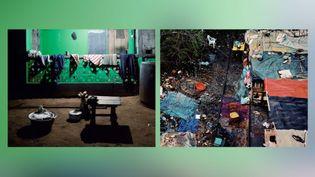 """Marie Bovo, à gauche, """"Evening Settings, Jeudi 19h50, saison des pluies"""" - A droite, """"La voie de chemin de fer, 07h00, 25 février 2012"""" (© Marie Bovo, Courtesy the artist and kamel mennour, Paris / London)"""