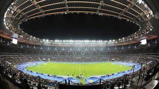 Les tribunes clairsemées du Stade de France lors du match amical France-Belgique, le 15 novembre 2011 à Saint-Denis (Seine-Saint-Denis). (ALEXIS REAU / SIPA)