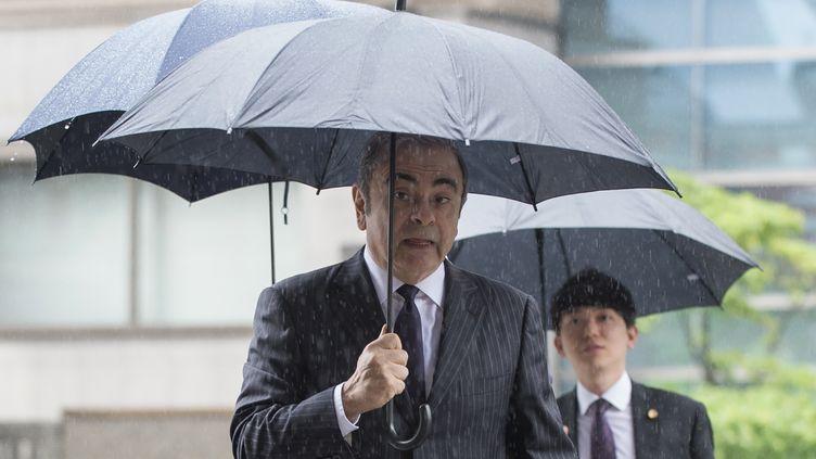 L'ancien dirigeant de Renault-Nissan, Carlos Ghosn, le 24 juin 2019 à Tokyo (Japon). (KAZUHIRO NOGI / AFP)