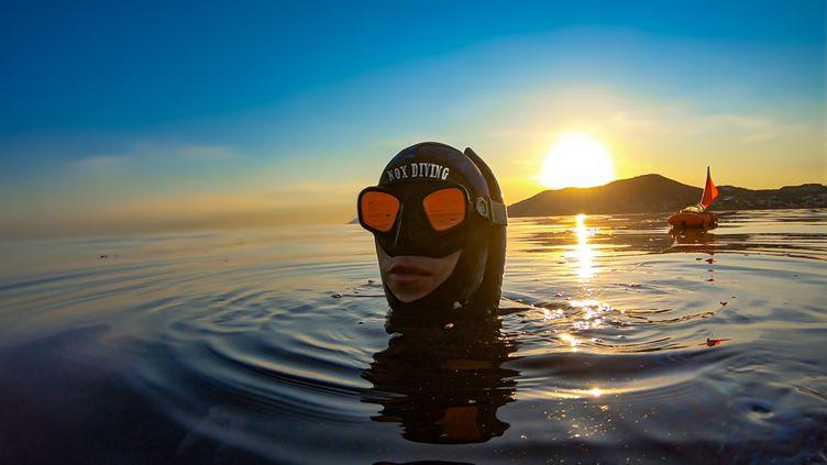 L'apnéiste Michel Nox est le spécialiste des fonds marins et des épaves.