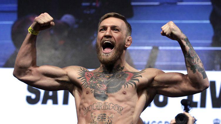 Connor McGregor, le 25 août 2018 à Las Vegas (Etats-Unis). (JOHN GURZINSKI / AFP)
