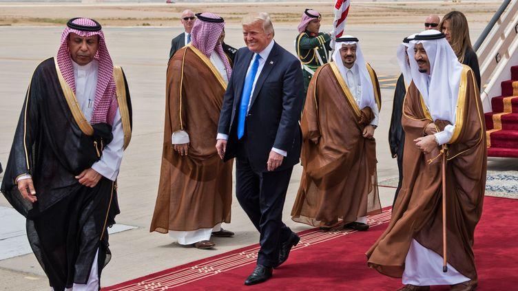 Le président Donald Trump à Riyad, en Arabie saoudite, le 20 mai 2017. (MANDEL NGAN / AFP)