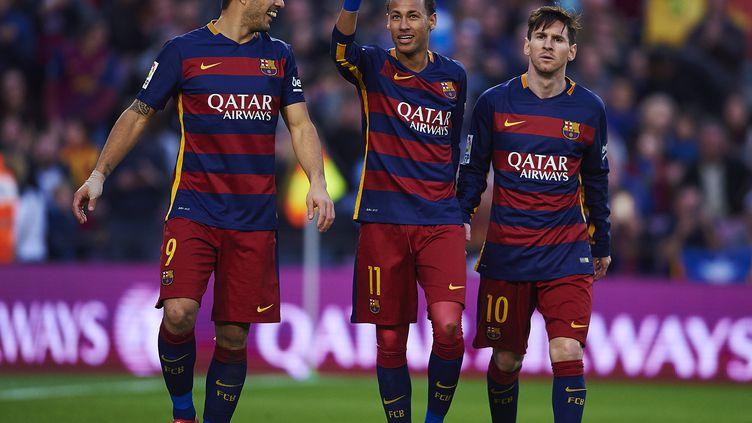 Lionel Messi, Neymar et Luis Suarez; la force de frappe offensive du Barça.  (S.LAU / GRUPPO/S. LAU)