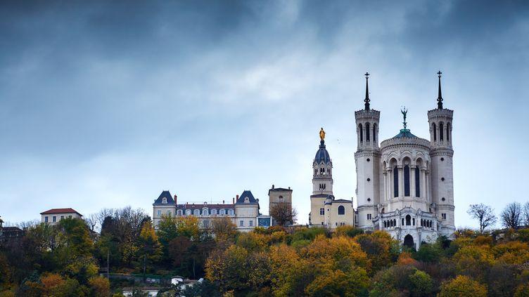 La basilique Notre-Dame-de-Fourvière, à Lyon, le 4 novembre 2015. (ALEXEI DANICHEV / RIA NOVOSTI / AFP)