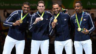 (L'équipe de France d'épée a décroché la médaille d'or aux JO de Rio  © AFP)