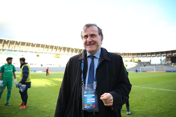 Pierre Ferracci, le président du Paris FC (Ligue 2), en 2017. (ANTHONY MASSARDI / MAXPPP)