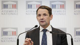 Thierry Mandon, porte-parole des députés PS, à l'Assemblée nationale, le 17 septembre 2013. ( MAXPPP)