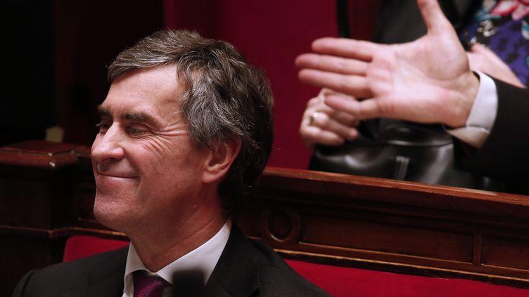 Le ministre du Budget, Jérôme Cahuzac, lors des questions au gouvernement à l'Assemblée nationale (Paris), le 5 décembre 2012. (CHARLES PLATIAU / AFP)