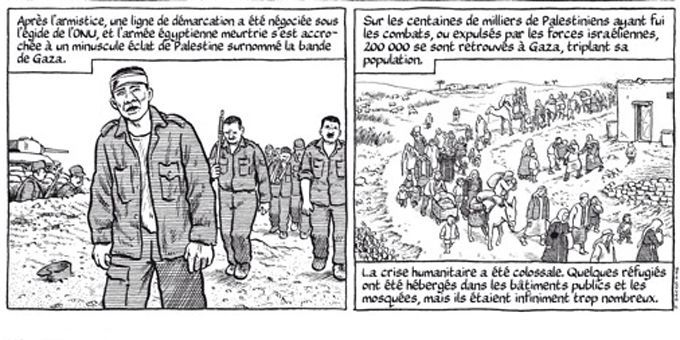 """Extrait de """"Gaza 1956"""" de Joe Sacco  (Joe Sacco - Futuropolis)"""