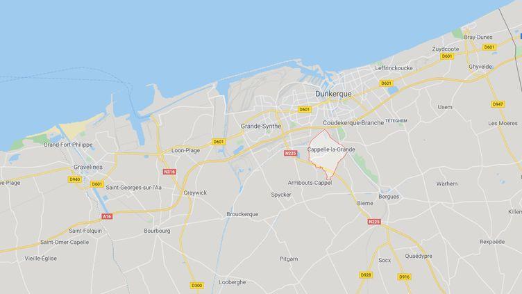 Les faits se sont déroulés à Cappelle-la-Grande (Nord), près de Dunkerque. (GOOGLE MAPS)