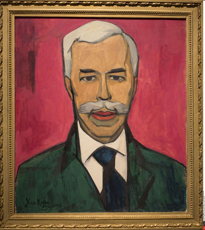 Xan KROHN, portrait de SergueI CHTCHOUKINE, Moscou 1915  (Gilles BASSIGNAC/JDD/SIPA)