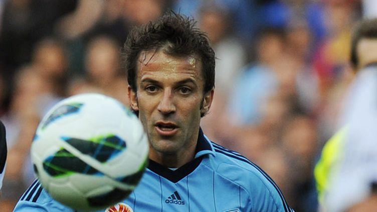 Del Piero avec son maillot du Sydney FC (GREG WOOD / AFP)