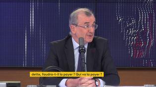 François Villeroy de Galhau, gouverneur de la Banque de France, mardi 9 mars sur franceinfo. (FRANCEINFO / RADIOFRANCE)