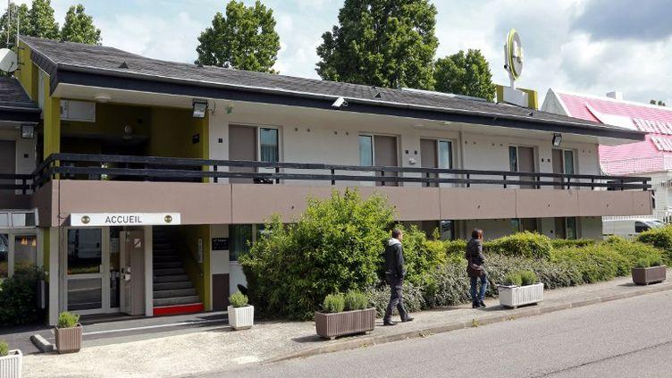 L'hôtel dePontault-Combault (Seine-et-Marne), où Rédoine Faïd a été arrêté dans la nuit du mardi au mercredi 29 mai 2013, un mois et demi après son évasion. (PIERRE VERDY / AFP)