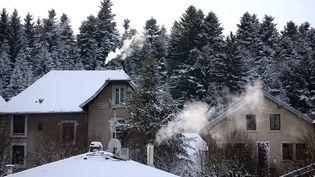 Un paysage givré et enneigé à Maîche (Doubs), le 7 janvier 2017. (MAXPPP)