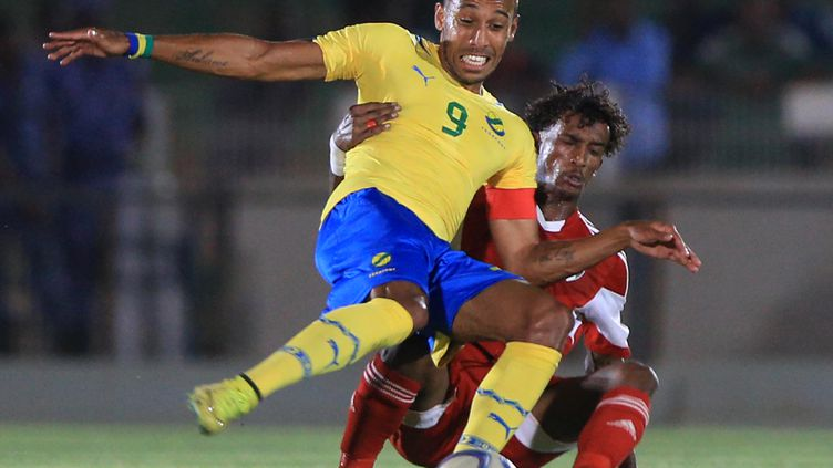 Le joueur du Gabon Pierre-Emerick Aubameyang