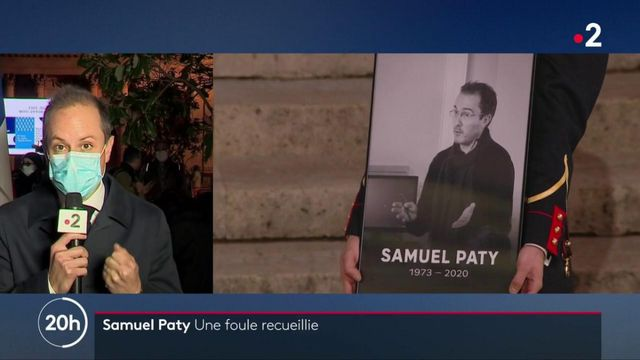 Hommage national à Samuel Paty : 500 personnes réunies pour honorer sa mémoire