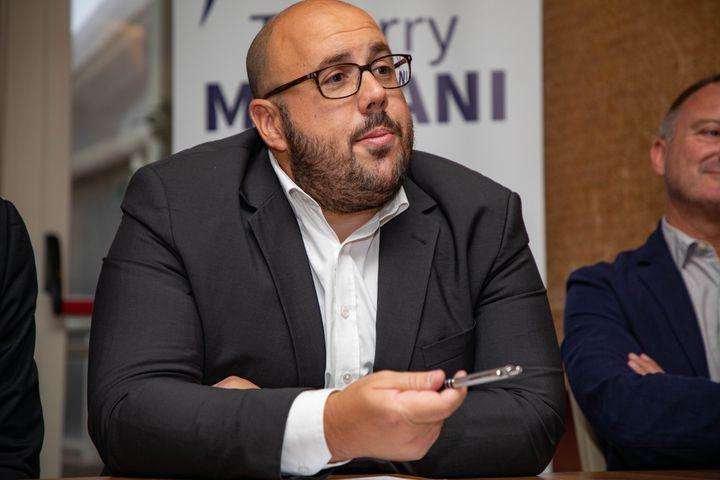 Philippe Vardon, candidat duRassemblement national à Nice (Alpes-Maritimes), le 10 septembre 2019. (MAXPPP)