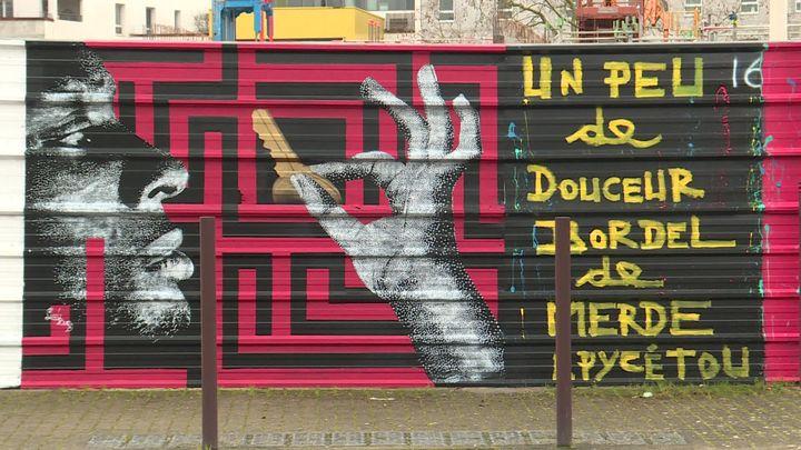 La fresque de Lady Bug à Nantes. (A. Ropert /  France Télévisions)
