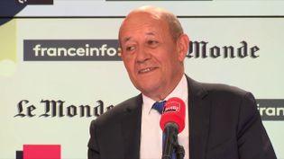Jean-Yves Le Drian, ministre de l'Europe et des Affaires étrangères, invité de France Inter-franceinfo-Le Monde dimanche 2 septembre. (RADIO FRANCE)